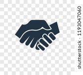 shake hands vector icon... | Shutterstock .eps vector #1193047060