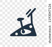 stationary bike vector icon... | Shutterstock .eps vector #1193047126
