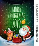 2019 merry christmas and new... | Shutterstock .eps vector #1193049169