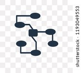 nodes vector icon isolated on... | Shutterstock .eps vector #1193049553