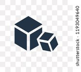 blocks vector icon isolated on... | Shutterstock .eps vector #1193049640