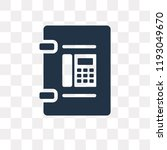 phone book vector icon isolated ... | Shutterstock .eps vector #1193049670