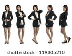 collection of 5 full length... | Shutterstock . vector #119305210