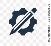 cogwheel vector icon isolated... | Shutterstock .eps vector #1193053603