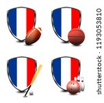 france shield. sports items | Shutterstock . vector #1193053810