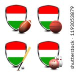 hungary shield. sports items | Shutterstock . vector #1193053879