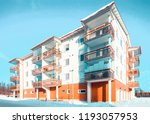 block of apartment residential... | Shutterstock . vector #1193057953