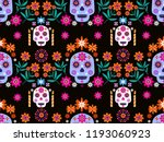 mexican seamless pattern sugar... | Shutterstock .eps vector #1193060923