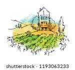hand drawn vector sketch of... | Shutterstock .eps vector #1193063233