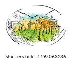 hand drawn vector sketch of... | Shutterstock .eps vector #1193063236