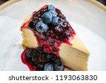 blueberry crape cake. | Shutterstock . vector #1193063830