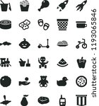 solid black flat icon set... | Shutterstock .eps vector #1193065846