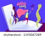 audio books flat vector... | Shutterstock .eps vector #1193067289