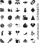 solid black flat icon set... | Shutterstock .eps vector #1193068570