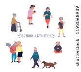 recreation and leisure senior... | Shutterstock . vector #1193068939