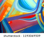 abstract texture. oil  acrylic... | Shutterstock . vector #1193069509