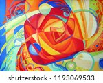 abstract texture. oil  acrylic... | Shutterstock . vector #1193069533
