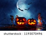halloween holiday concept.... | Shutterstock . vector #1193070496