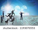business people in uncertainty...   Shutterstock . vector #1193070553