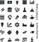 solid black flat icon set... | Shutterstock .eps vector #1193071606