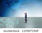 business concept of uncertainty ...   Shutterstock . vector #1193071969