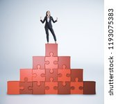 successful businesswoman... | Shutterstock . vector #1193075383