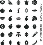 solid black flat icon set onion ... | Shutterstock .eps vector #1193076010