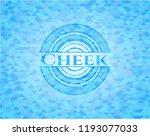 cheek light blue emblem with... | Shutterstock .eps vector #1193077033
