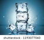 set of ice cubes with...   Shutterstock .eps vector #1193077060
