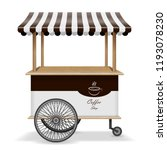 realistic street food cart with ... | Shutterstock .eps vector #1193078230