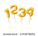 vector realistic golden...   Shutterstock .eps vector #1193078656