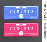 voucher gift for shop with... | Shutterstock .eps vector #1193079283