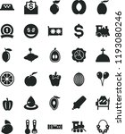 solid black flat icon set... | Shutterstock .eps vector #1193080246