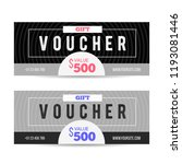voucher gift for shop with... | Shutterstock .eps vector #1193081446