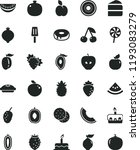 solid black flat icon set cake... | Shutterstock .eps vector #1193083279