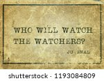 who will watch the watchers  ... | Shutterstock . vector #1193084809