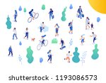 different isomeric people... | Shutterstock .eps vector #1193086573