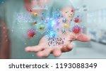 businesswoman on blurred... | Shutterstock . vector #1193088349