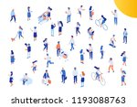 different isomeric people... | Shutterstock .eps vector #1193088763