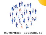 different isomeric people... | Shutterstock .eps vector #1193088766