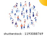 different isomeric people... | Shutterstock .eps vector #1193088769