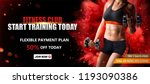 fitness club banner ads with a... | Shutterstock .eps vector #1193090386