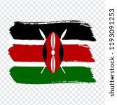 flag kenya  brush stroke...