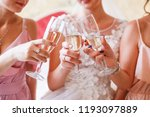 female party with glasses of... | Shutterstock . vector #1193097889
