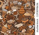 cartoon cute doodles hand drawn ... | Shutterstock .eps vector #1193098636