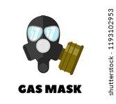 vector gas mask icon  | Shutterstock .eps vector #1193102953