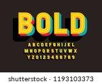 vector of stylized modern font... | Shutterstock .eps vector #1193103373