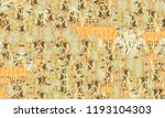 chinese seamless watercolor... | Shutterstock . vector #1193104303