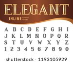 vector of elegant alphabet... | Shutterstock .eps vector #1193105929