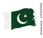 flag of pakistan  grunge...   Shutterstock .eps vector #1193107633